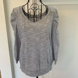 Free People Scoop Neck Puff Sleeve Top Size S